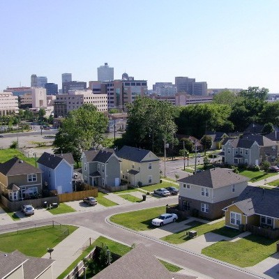 Uptown Homes arial view