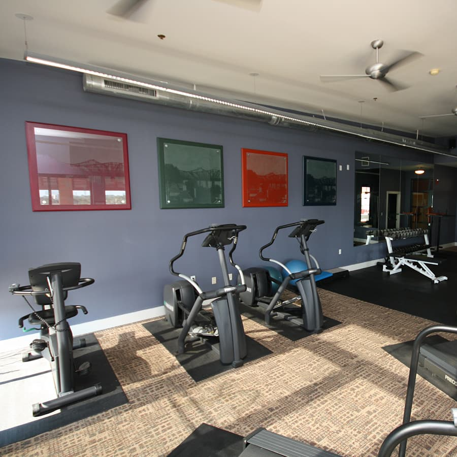 Lofts at South Bluffs fitness center