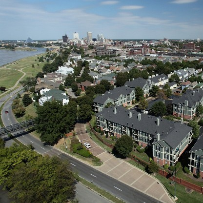 South Bluffs Apartments arial view