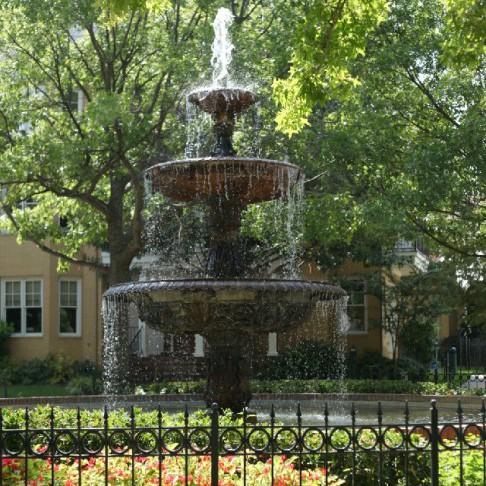 South Bluffs Apartments fountain