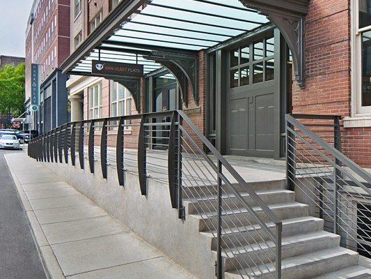 Van Vleet Flats exterior front door